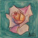 Rose on Turquoise