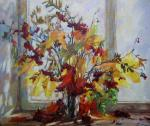 Still Life with a maple leaf
