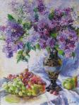 Lilac and grapes