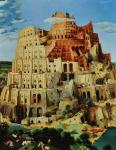 Bruegel. Tower of Babel. Babylon Tower.
