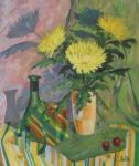 Still Life with Chrysanthemum and Fancy Box