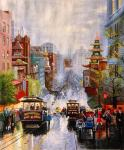 Копия картины Томаса Кинкейда: San Francisco, A View Down California Street From Nob Hill