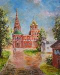 church, cathedral, church, orthodox, moscow, impressionism, realism, painting, buy