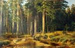 """Ship Grove"" (a copy of the painting Shishkin)"