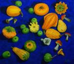 Still Life with Pumpkins and Mushrooms