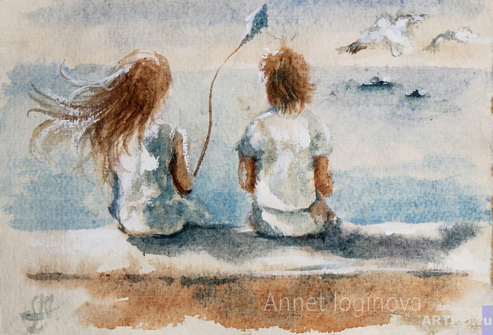 Loginova Annet. Watercolor album: About Love