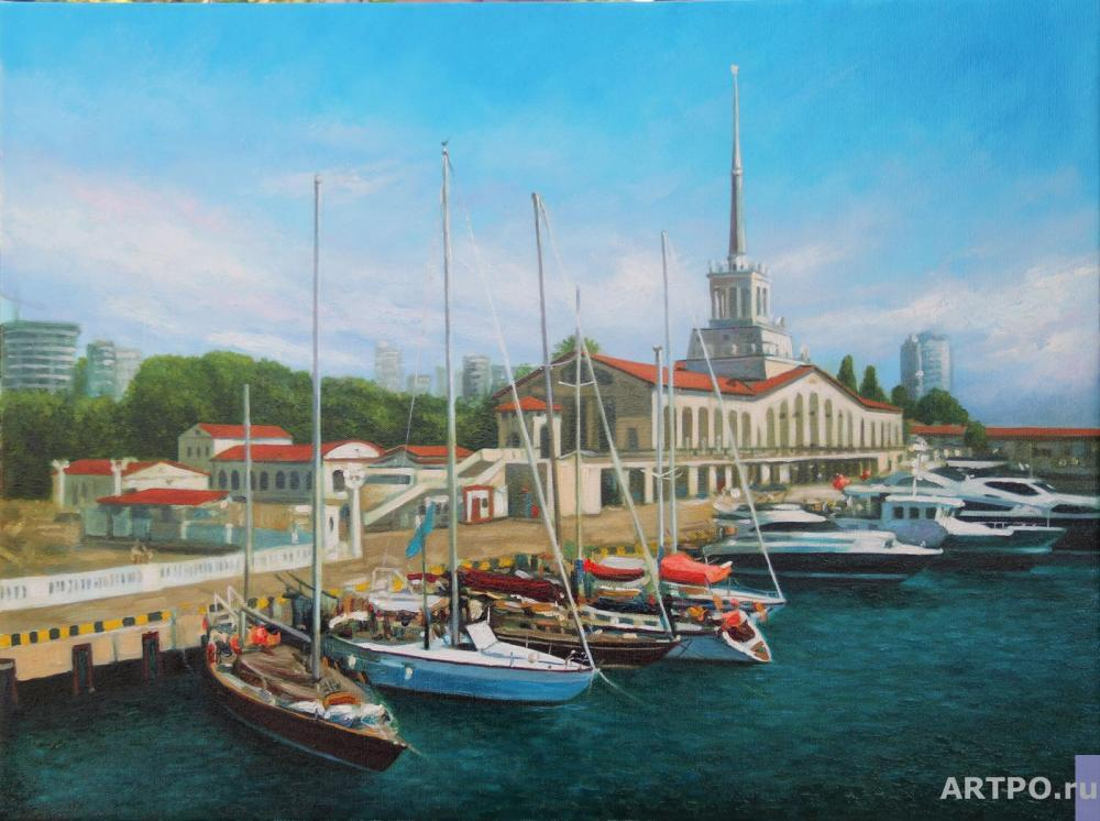 Harutyunyan Garik. Before the regatta.