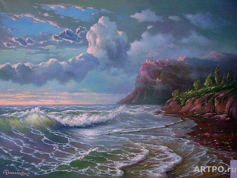 Kulagin Oleg. The evening roar of the waves.
