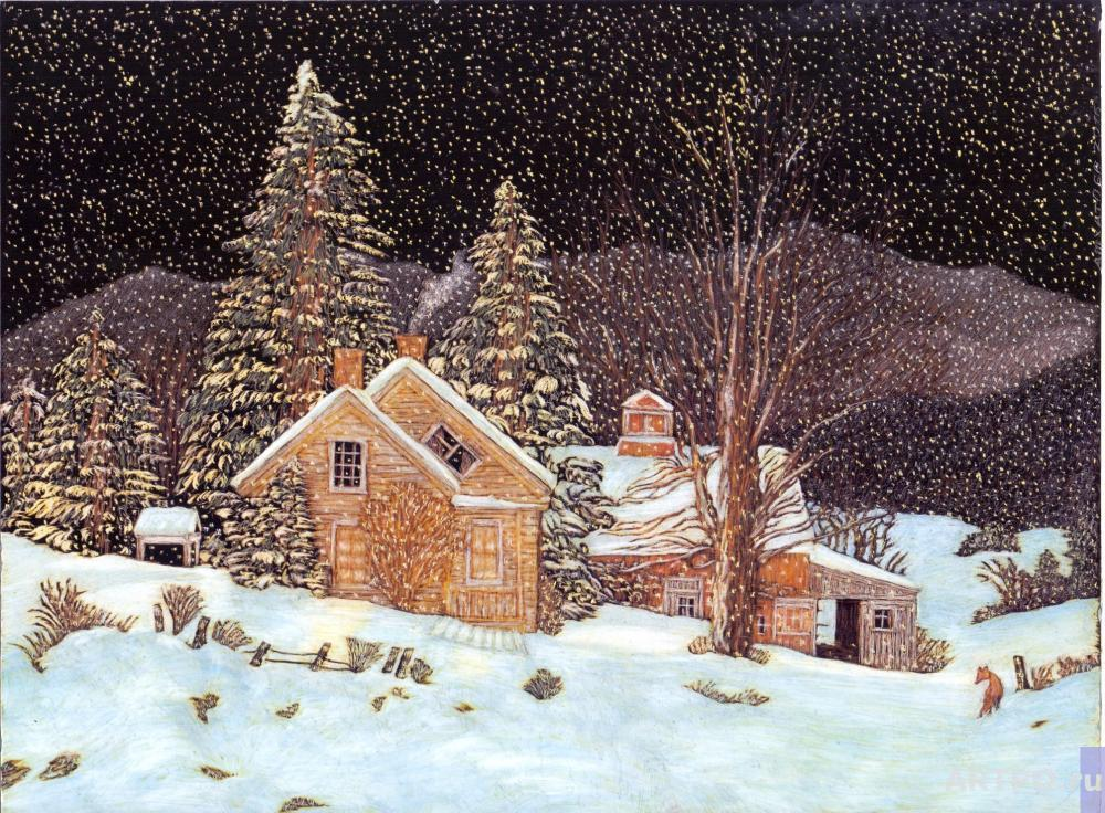 Ashkhatoev Martin. A copy of a painting by Fred Swan Silent Night