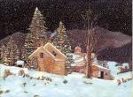 A copy of a painting by Fred Swan Silent Night
