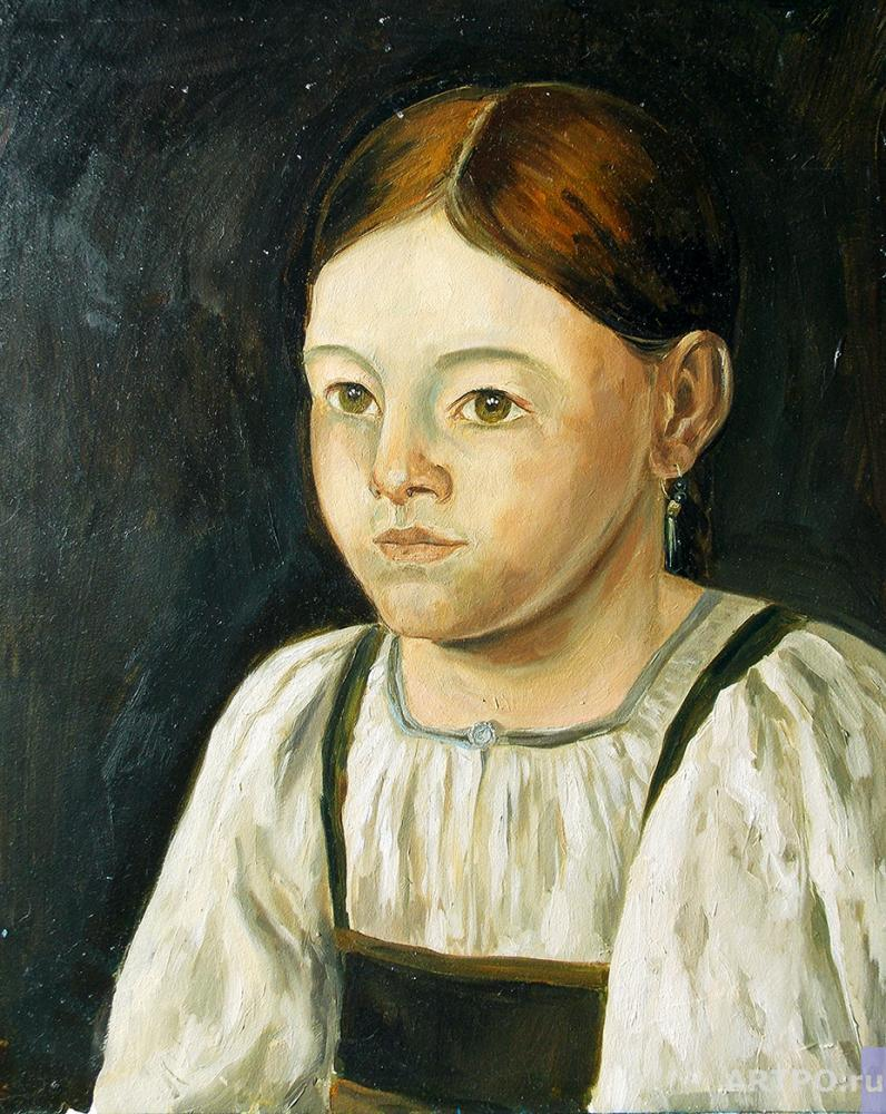 "Gerasimova Natalia. A copy of the picture F.M.Slavyanskogo ""Peasant Girl"""