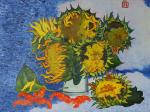 Sunflowers and crayfish