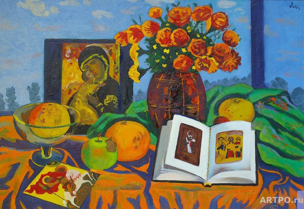 Li Moesey. Still life with an icon