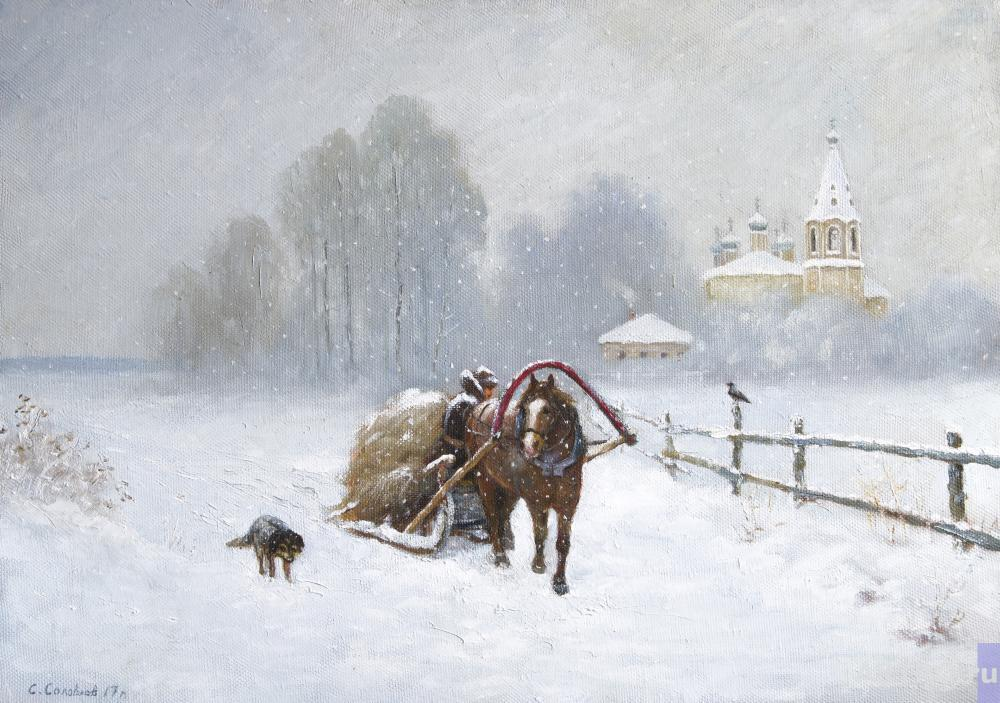 Solovyev Sergey. On the wood-sledge