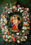 Madonna and Child in a flower garland. copy Ya.Breygel