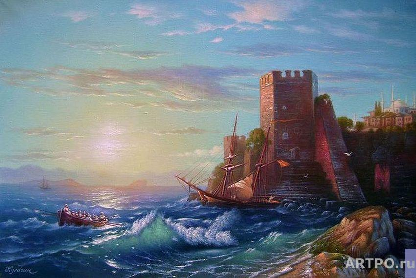 Kulagin Oleg. Towers on the rock near Bosporus.