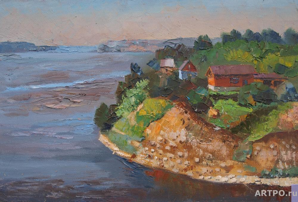 Chernyy Alexandr. Steep Bank of the Volga near the village Klyuchischi