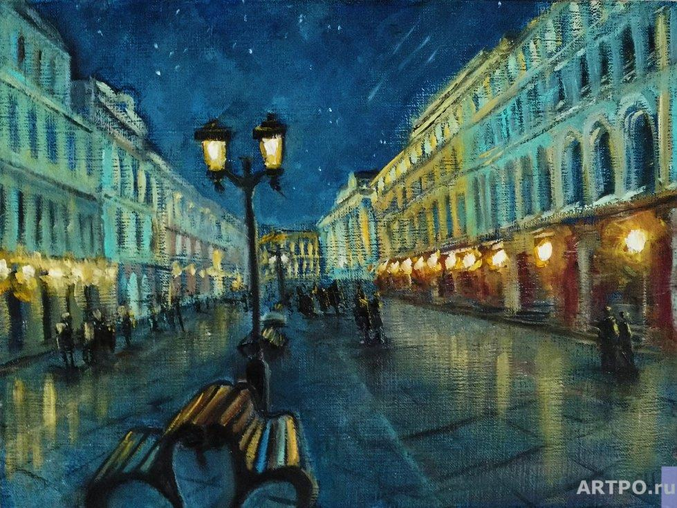 Shamshurina Svetlana. Starry night