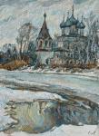 Spring in Vologda, high water