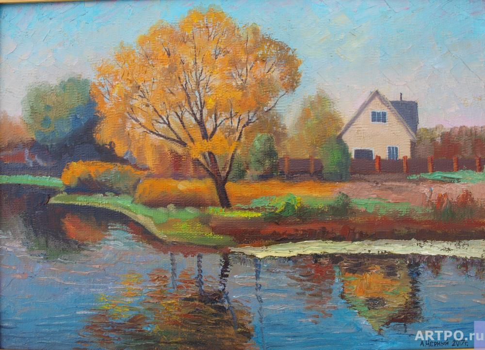 Chernyy Alexandr. Autumn day at the pond