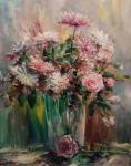 Bouquet in a glass vase
