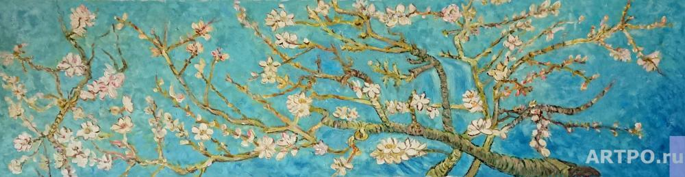 Dzhanilyatti Antonio. Flowering almond branches. Copy of Van Gogh