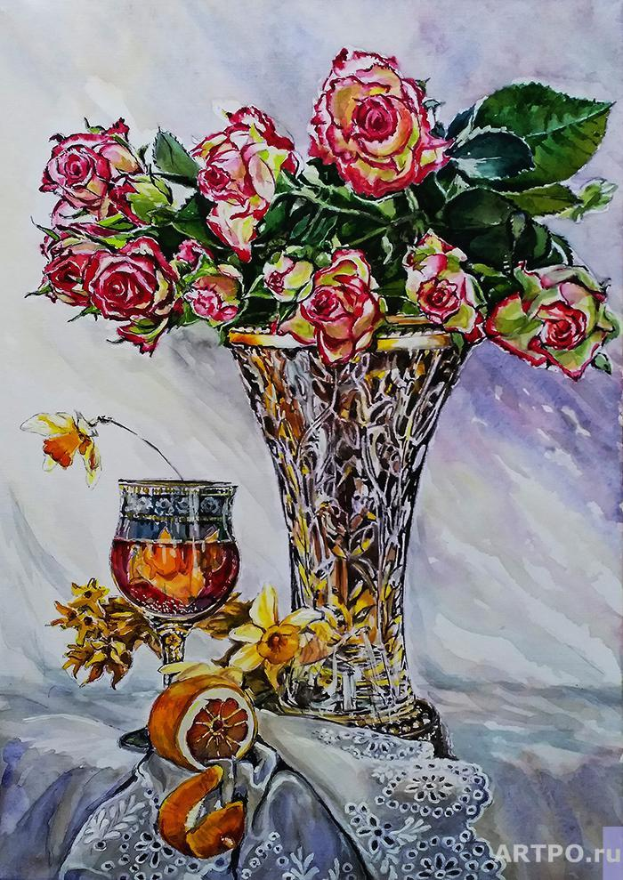 Diordiew Nikolaj. Vase with roses