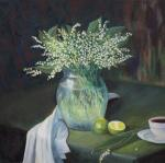 Still Life with Lilies of the Valley and Lime