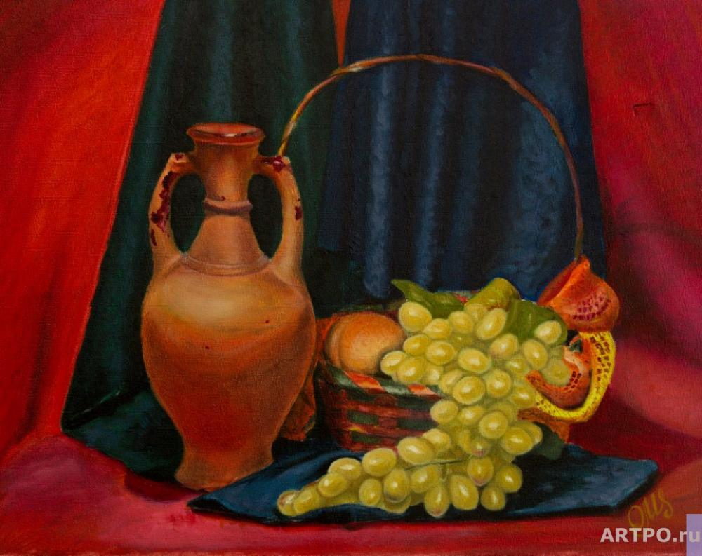 Altshuller Olga. Still life with a jug of wine