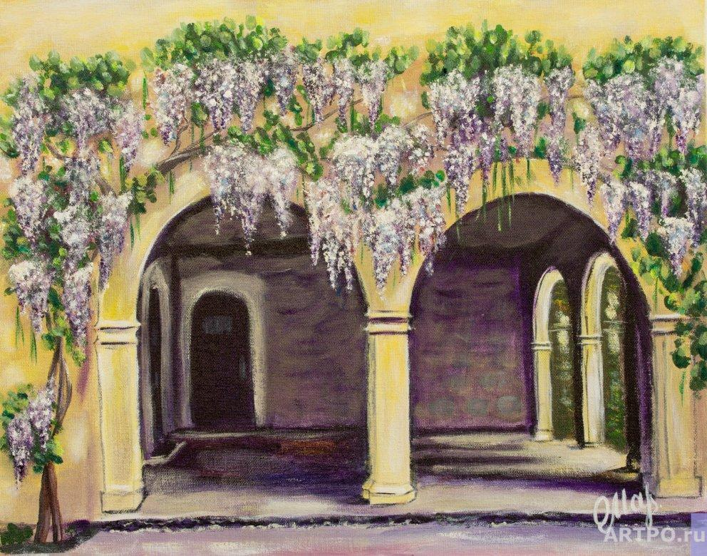 Altshuller Olga. Terrace with wisteria