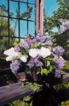 Still life with lilac in the garden