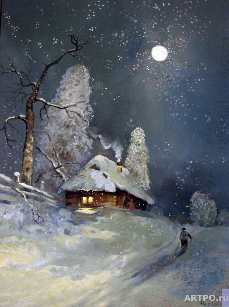 Fedotov Mikhail. The night before Christmas