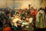 Zaporozhets write a letter to the Turkish sultan. copy of I. Repin