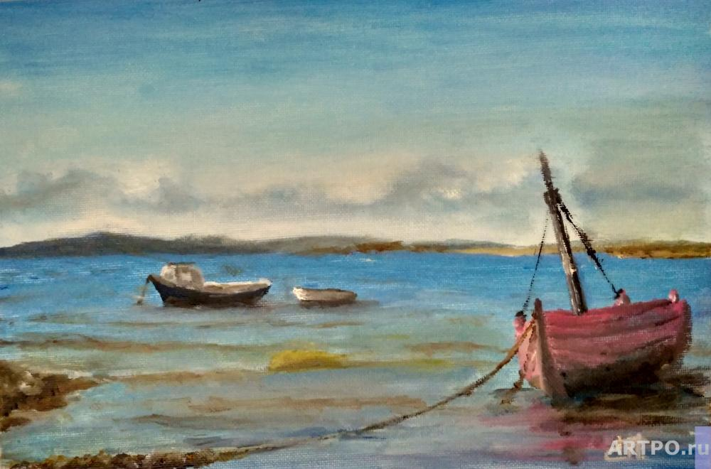 Strechnyi Pavel. Boats in the bay