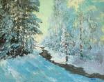 Winter in the forest, stream
