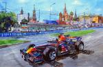 Formula 1. Racing on red square
