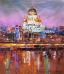 View of the Cathedral of Christ the Saviour. Sunset