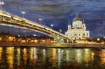 View of the Cathedral of Christ the Saviour through the Patriarchal bridge N 3
