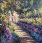 Copy of the painting Footpath in the garden of Monet, Giverny, 1902
