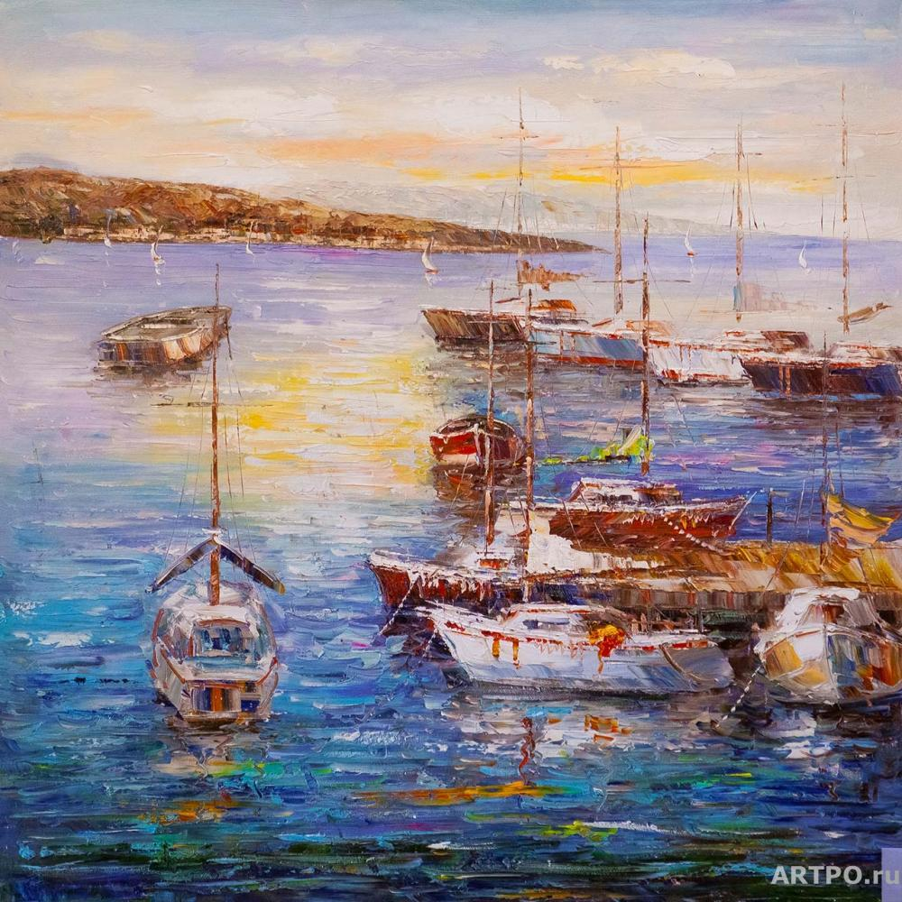 Vevers Christina. Boats at the pier N3