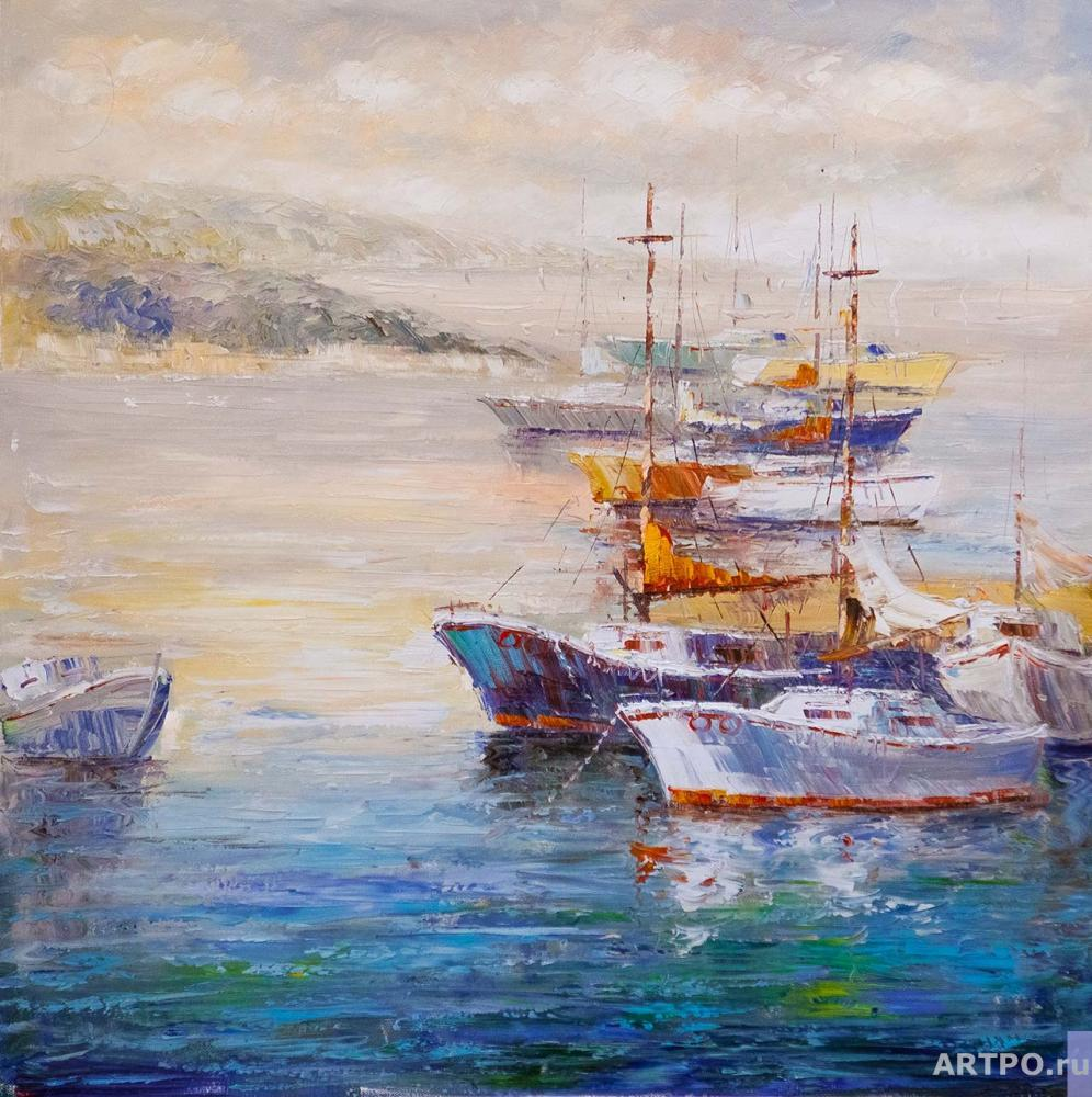 Vevers Christina. Boats at the pier N6