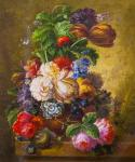 Copy of the painting of Jan van Hasuma. Still life with a flower vase