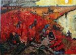 Copy Van Gogh Red vineyads in Arles