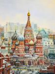 The views of St. Basil's Cathedral