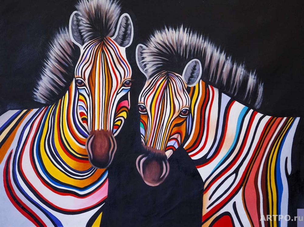 Vevers Christina. Multicolored zebras N6