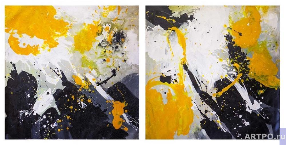 Daniel Wenger. The energy of the absolute. Diptych