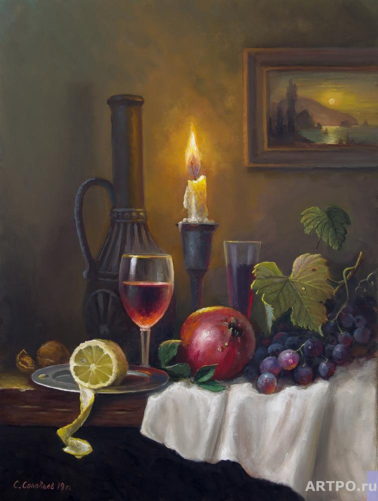 Solovyev Sergey. Still life with candle