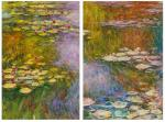 Water lilies, N20, copy of Claude Monet's painting. Diptych