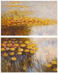 Water lilies, N6, copy of Claude Monet's painting. Diptych