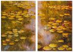 Water lilies N32, a copy of the painting by Claude Monet. Diptych